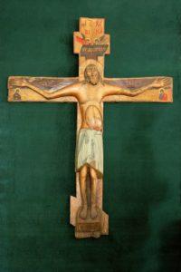 Иисусов Животворящий Крест, явленный в 1423 году на Сахотском   болоте, где ныне стоит мужской монастырь Животворящего Креста   Господня